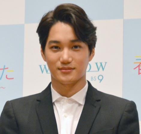 WOWOW『連続ドラマW 春が来た』完成披露試写会に出席したEXO・カイ (C)ORICON NewS inc.