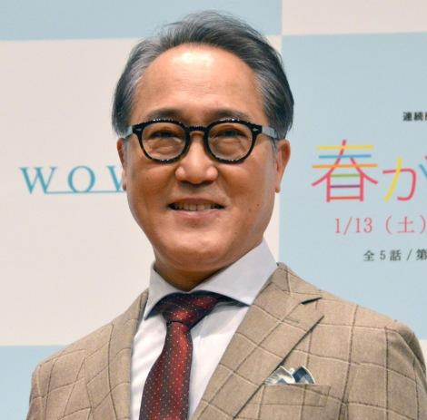 WOWOW『連続ドラマW 春が来た』完成披露試写会に出席した佐野史郎 (C)ORICON NewS inc.
