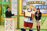 副知事のもずやんを迎え大阪のまちづくりについてプレゼンする山本彩(C)カンテレ