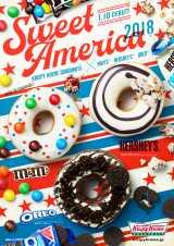 3種の限定ドーナツ。右上『スイート アメリカ ハーシーズ クランチャーズ』、左上『スイート アメリカ エム&エムズ ホワイト』、下『スイートアメリカオレオ バニラクリーム チョコ」