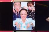 梅沢富美男、藤田ニコルがひと足早く撮影 (C)ORICON NewS inc.