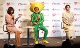 『はたちの献血キャンペーン』記者会見に出席した(左から)小林麻耶、山本シュウ、広瀬すず (C)ORICON NewS inc.