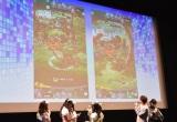 前島亜美とわーすたがゲーム対戦=スマートフォン用アプリ『パシャ★モン』ヒット記念イベント (C)ORICON NewS inc.
