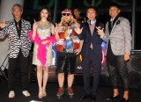 『SUPER SKYTREE DISCO』OPセレモニーに出席した宇治田みのる、橋本マナミ、DJ KOO(TRF)、DJ OSSHY、武田修宏 (C)ORICON NewS inc.
