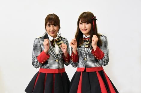 『STU48 ×千鳥 瀬戸内少女応援団』1月28日、カンテレほかで放送。ゲストのNMB48(左から、沖田彩華・渋谷凪咲)(C)カンテレ
