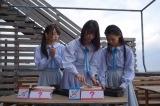 『STU48 ×千鳥 瀬戸内少女応援団』1月28日、カンテレほかで放送。淡路島(左から)石田みなみ、田中皓子、峯吉愛梨沙