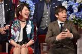 15日放送の日本テレビ系バラエティー番組『しゃべくり007』に出演する村上佳菜子、織田信成 (C)日本テレビ