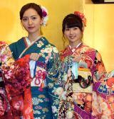 (左から)HKT48の森保まどか、熊沢世莉奈=AKB48グループ成人式記念撮影会 (C)ORICON NewS inc.