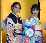 (左から)NGT48の西村菜那子、奈良未遥=AKB48グループ成人式記念撮影会 (C)ORICON NewS inc.