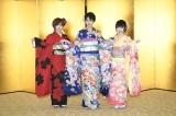 STU48の新成人(左から)岡田奈々、瀧野由美子、森香穂(C)AKS
