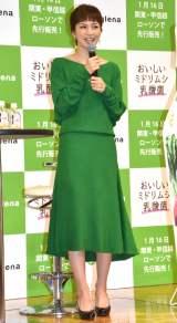 「ユーグレナ」の新商品発表会に出席した安田美沙子(C)ORICON NewS inc.