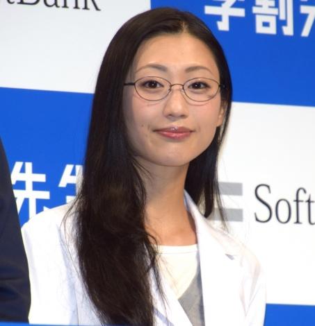 ソフトバンクの新サービス発表会見に出席した壇蜜 (C)ORICON NewS inc.