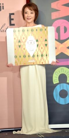 『明治ザ・チョコレート メキシコホワイトカカオ』発売記念イベントに出席した西川史子 (C)ORICON NewS inc.