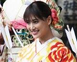 シングル「あいしてると言ってよかった」のヒット祈願を行ったE-girlsの藤井夏恋 (C)ORICON NewS inc.
