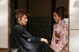 『眠狂四郎 The Final』に出演する(左から)田村正和・吉岡里帆(C)フジテレビ
