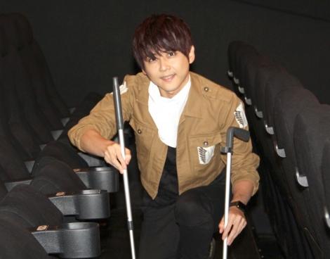 1日劇場支配人に就任し、清掃業務も行った梶裕貴=新宿バルト9で1日劇場支配人 (C)ORICON NewS inc.