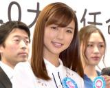 『つけトク? ETC2.0大使任命式典』に参加した真野恵里菜 (C)ORICON NewS inc.