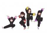 アイドルグループ「くろぐろクローバーZ」 (C)臼井儀人/双葉社・シンエイ・テレビ朝日・ADK 2018