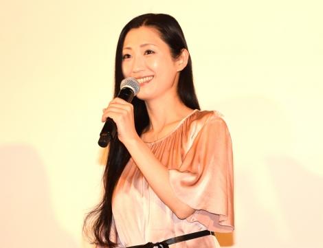 映画『星めぐりの町』の初日舞台あいさつに出席した壇蜜 (C)ORICON NewS inc.