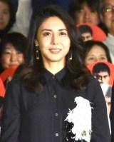 映画『祈りの幕が下りる時』の初日舞台あいさつに出席した松嶋菜々子 (C)ORICON NewS inc.