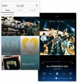 GLAY公式サブスクリプション型アプリ画面