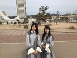 瀬戸内全県でデビュー記念プロモーションを行ったSTU48(写真は兵庫県を訪れた瀧野由美子と石田みなみ) (C)STU