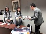 デビューシングル「暗闇」発売日に瀬戸内全県で同時プロモーションを行ったSTU48 (C)STU