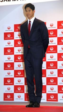 千葉・成田空港で、MLBに向けた出発式&記者会見に出席した大谷翔平 (C)ORICON NewS inc.