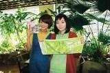 リンリン(右)は大ファンの元モーニング娘。新垣里沙と対面