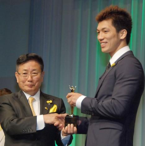 『第33回イエローリボン賞(ベスト・ファーザー)』を受賞したプロボクサーの村田諒太選手 (C)ORICON NewS inc.