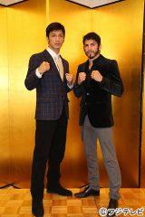 12月30日『ボクシングフェス2014 SUPER BOXEO(仮)』に参戦する(左から)村田諒太、ホルヘ・リナレス