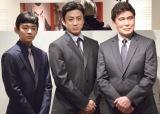 『高麗屋三代襲名記念展』のオープニングセレモニーに出席した(左から)松本金太郎、市川染五郎、松本幸四郎 (C)ORICON NewS inc.