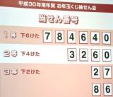 『平成30年お年玉付年賀はがき』当せん番号 (C)ORICON NewS inc.