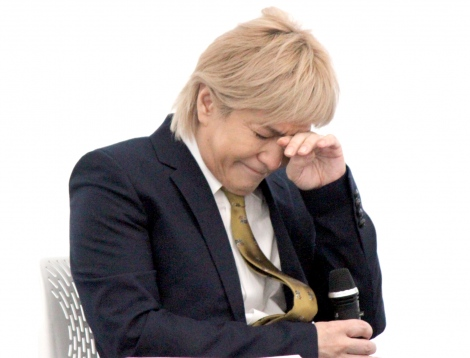 会見では涙ぐむ場面も (C)ORICON NewS inc.