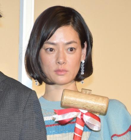 映画『羊の木』初日舞台あいさつに登壇した市川実日子 (C)ORICON NewS inc.
