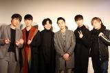 『マイ・バケットリスト』日本語公演の制作発表会にて。キャストの5人と演出の中野智行(右端)