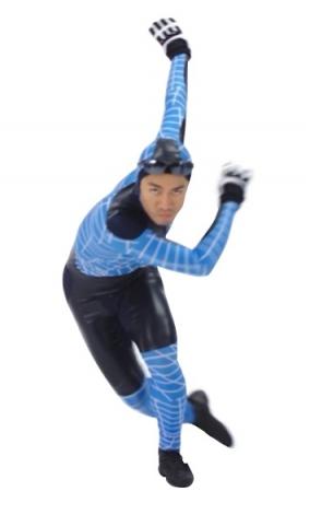「一番お気に入り」というスピードスケートのコスチューム姿の高橋大輔