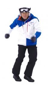 スノーボードのコスチューム姿の高橋大輔