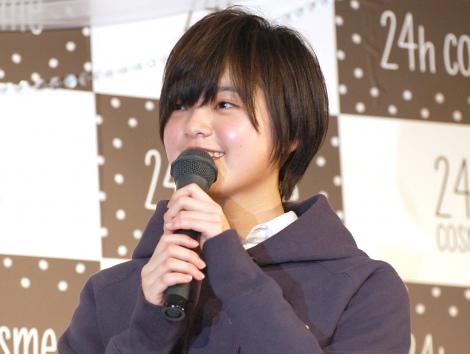 右腕負傷後初の公の場に出た欅坂46の平手友梨奈=「24h cosme」の新ブランドミューズ (C)ORICON NewS inc.