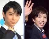 (左から)フィギュアスケート・羽生結弦選手とスピードスケート・小平奈緒選手 (C)ORICON NewS inc.