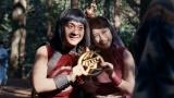 ペアルック姿披露した金太郎(浜田岳)&織姫(川栄李奈)