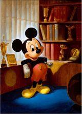『ウォルト・ディズニー・アーカイブス展〜ミッキーマウスから続く、未来への物語〜』ジョン・ヘンチ画 ミッキーマウスのポートレート(1953年)(C)Disney