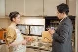 NHK・BSプレミアムで放送中の『我が家の問題』オムニバスドラマに登場する4人の妻をひとり4役で演じ分けた水川あさみ。第2話仕事ができない夫に悩む妻」夫役は大谷亮平(C)NHK