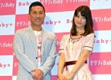 『ゼクシィBaby おでかけPark』イベントに出席した前園真聖と小倉優子 (C)ORICON NewS inc.