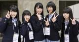 SKE48ファンにお披露目されたドラフト3期生5人(左から平田詩奈、西満里奈、中野愛理、上妻ほの香、大谷悠妃)(C)AKS