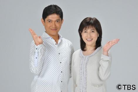 サムネイル 生活情報番組『はなまるマーケット』に出演中の薬丸裕英と岡江久美子(右)