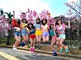 地元沖縄でお披露目イベントを開催したChuning Candy(左から)琴音、千夏、ソフィー、LILI、ゆうり、優美香、愛子 (C)ORICON NewS inc.