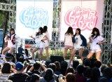 地元の沖縄・那覇でデビューシングル「Dance with me」(3月21日発売)などを披露したChuning Candy (C)ORICON NewS inc.