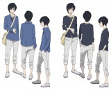 Netflixオリジナルアニメ『B: The Beginning』(3月2日より世界同時配信)黒羽(CV:梶裕貴)のキャラクター設定画(全身)(C)Kazuto Nakazawa / Production I.G