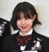 堀越高校卒業会見を行ったX21・籠谷さくら (C)ORICON NewS inc.